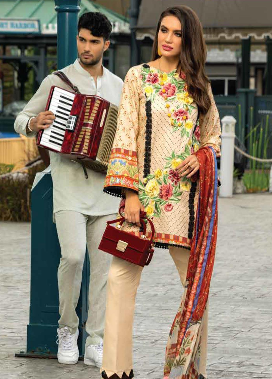 Sarang Embroidered Lawn Unstitched 3 Piece Suit S20LS 09 - Spring / Summer Collection