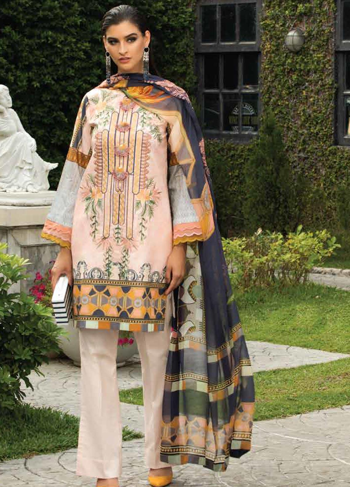 Sarang Embroidered Lawn Unstitched 3 Piece Suit S20LS 10 - Spring / Summer Collection