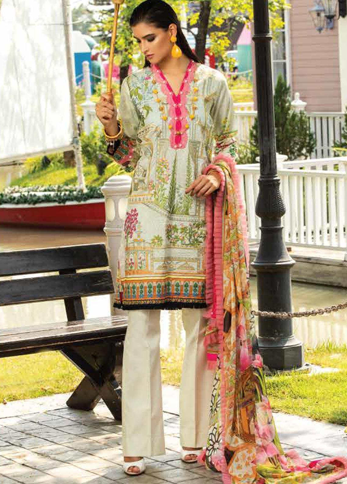 Sarang Embroidered Lawn Unstitched 3 Piece Suit S20LS 11 - Spring / Summer Collection