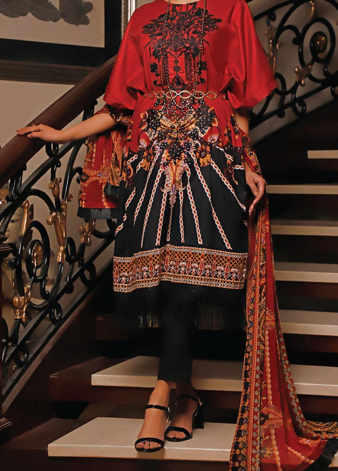 Sauda Saad by VS Textile Embroidered Lawn Unstitched 3 Piece Suit VS20SS 20-04 - Spring / Summer Collection