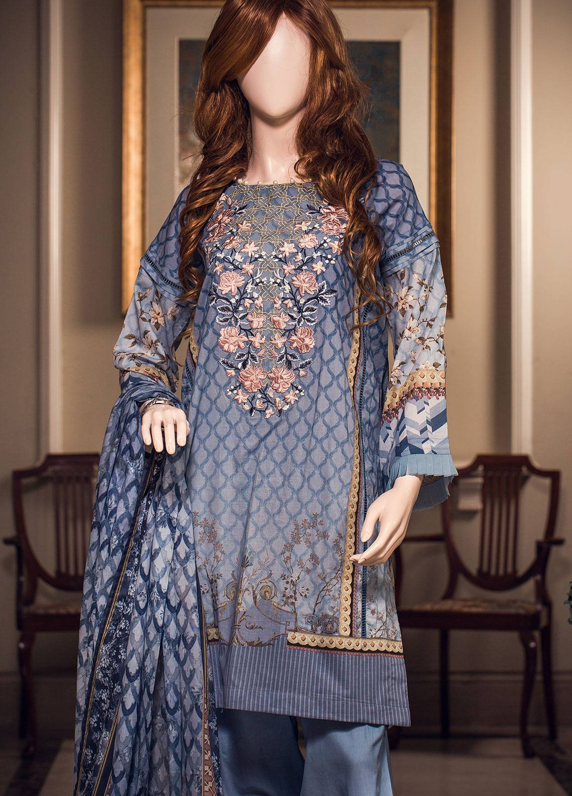Saya Printed Lawn Unstitched 3 Piece Suit 10C GAEA - Spring / Summer Collection