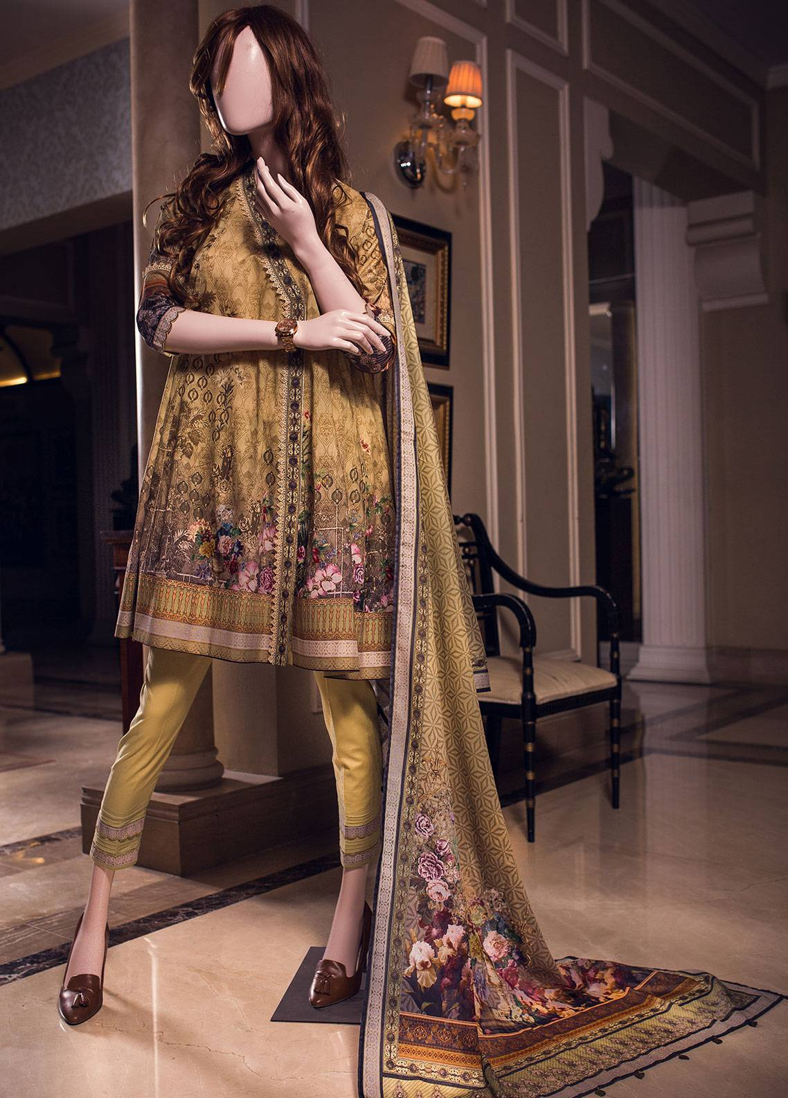 Saya Printed Lawn Unstitched 3 Piece Suit 11B FLORA - Spring / Summer Collection