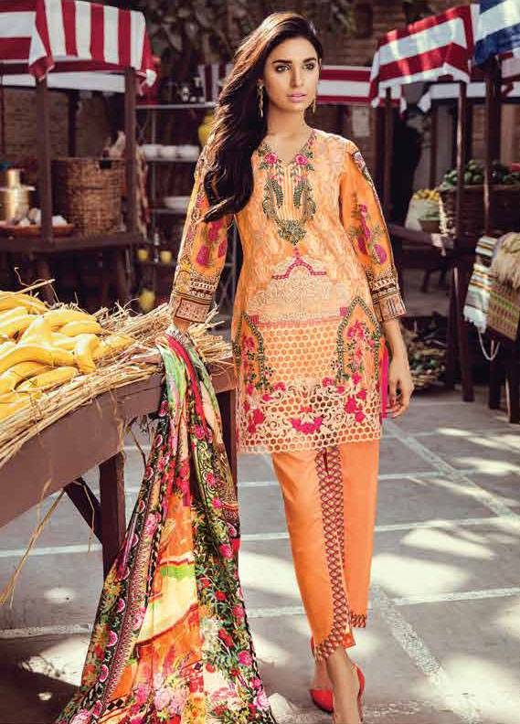 Bashir Ahmed Embroidered Lawn Unstitched 3 Piece Suit SB18L 01 - Spring / Summer Collection