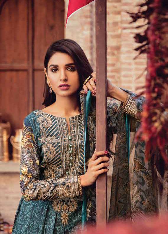 Bashir Ahmed Embroidered Lawn Unstitched 3 Piece Suit SB18L 05 - Spring / Summer Collection