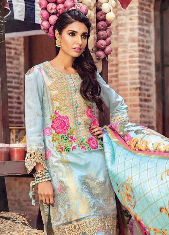 Bashir Ahmed Embroidered Lawn Unstitched 3 Piece Suit SB18L 07 - Spring / Summer Collection
