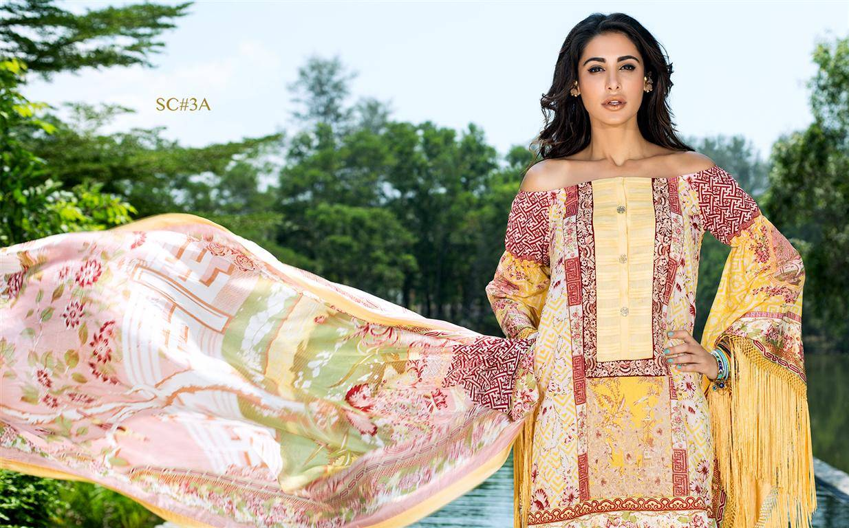 Shehla Chatoor Embroidered Lawn Unstitched 3 Piece Suit SC16L 3A