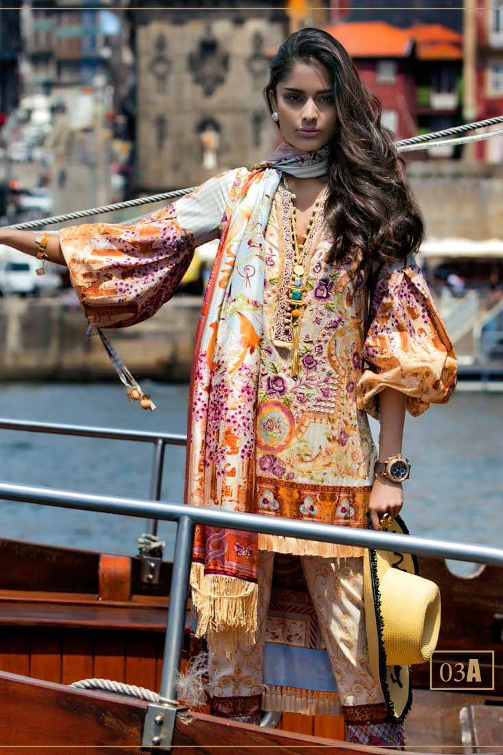 Shehla Chatoor Embroidered Lawn Unstitched 3 Piece Suit SC17L 3A