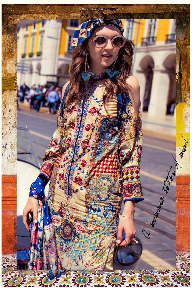 Shehla Chatoor Embroidered Lawn Unstitched 3 Piece Suit SC17L 6A