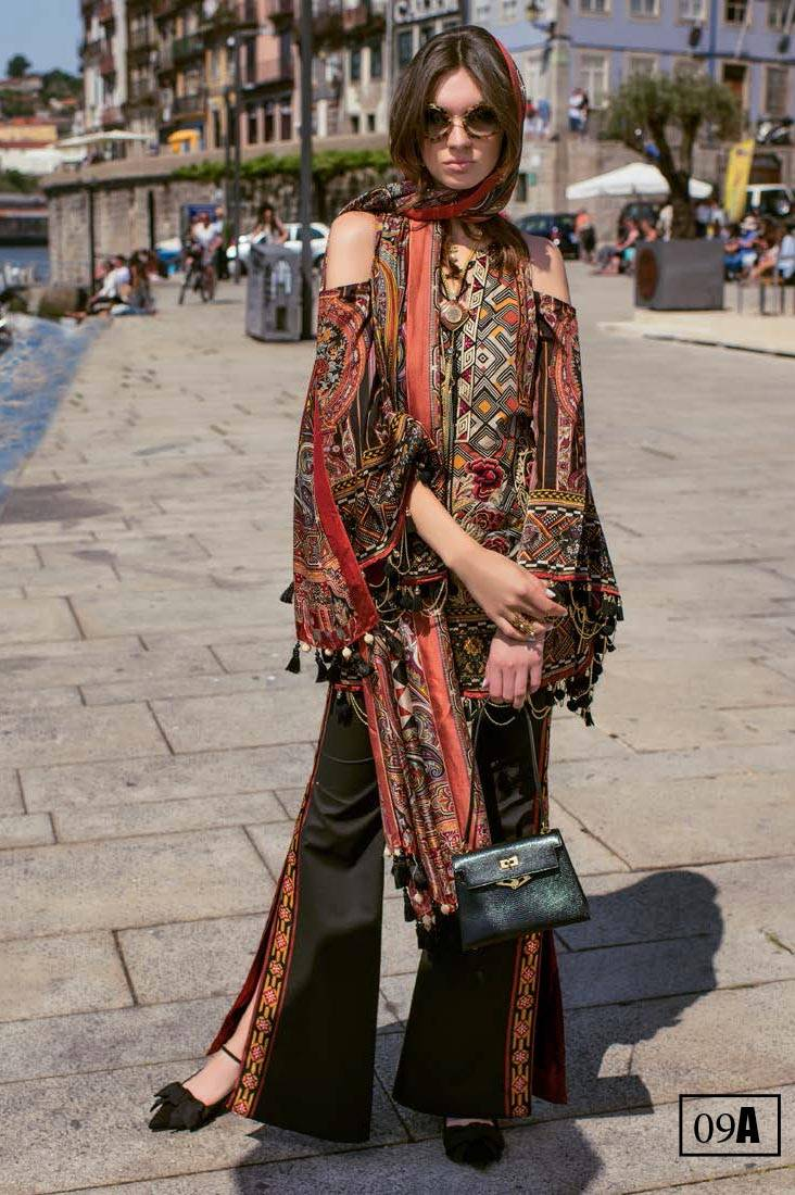 Shehla Chatoor Embroidered Lawn Unstitched 3 Piece Suit SC17L 9A