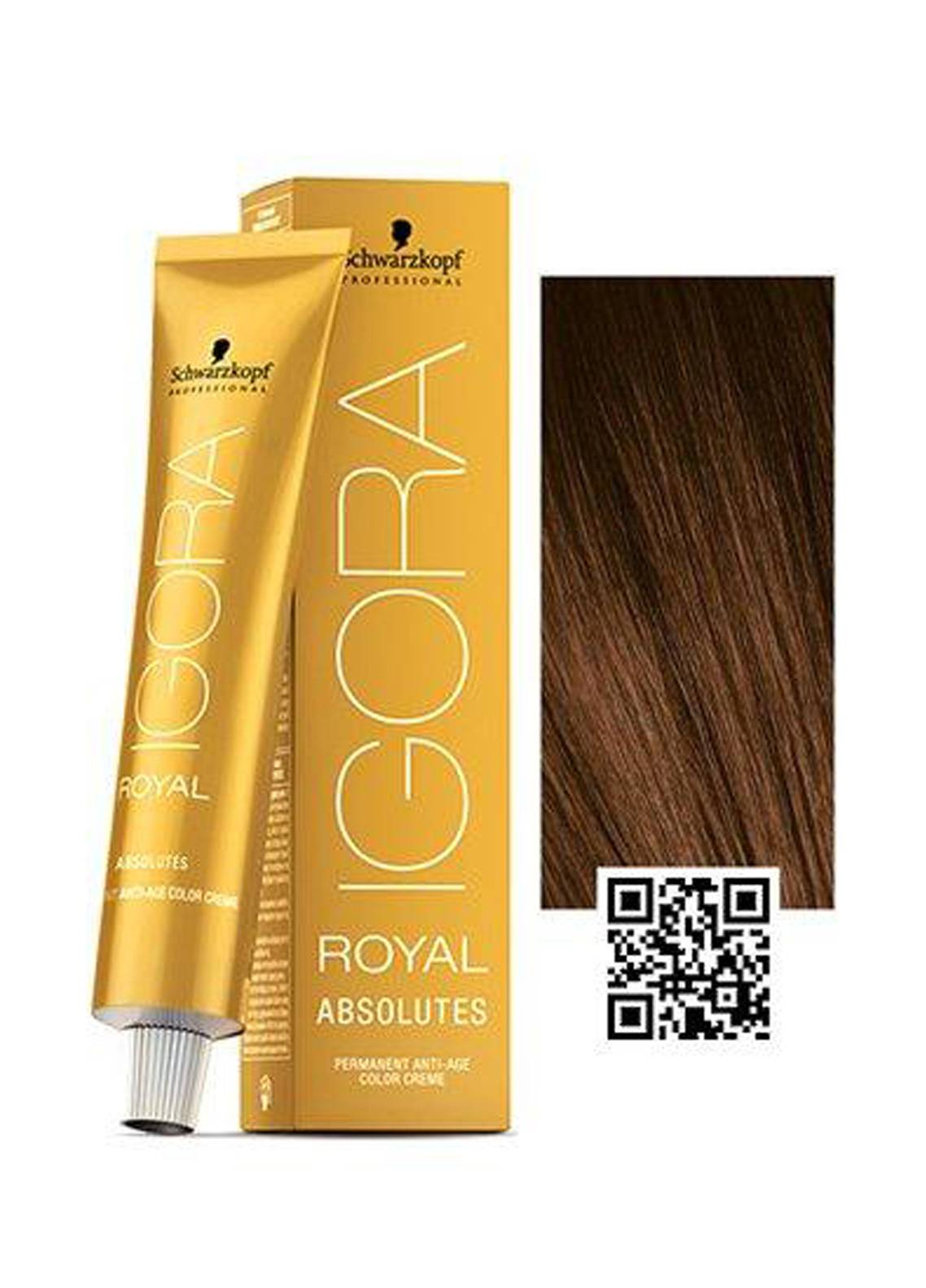 Schwarzkopf Igora Royal Absolutes Hair Color - Light Brown Gold Natural 5-50