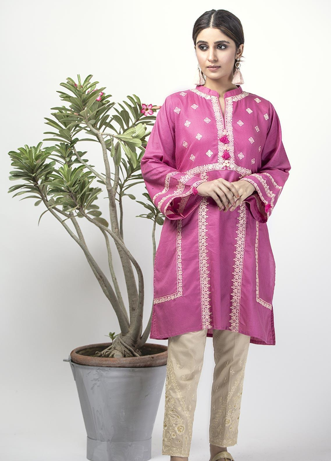 Senorita Casual Cotton Stitched Kurtis LAA-01328 PURPLE