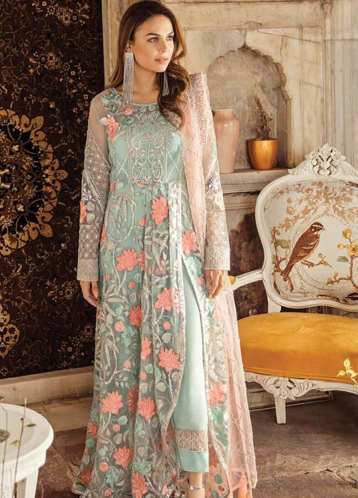Imrozia by Serene Embroidered Zari Net Unstitched 3 Piece Suit SEI19KM 804 JALWA-E-HUSN - Luxury Collection