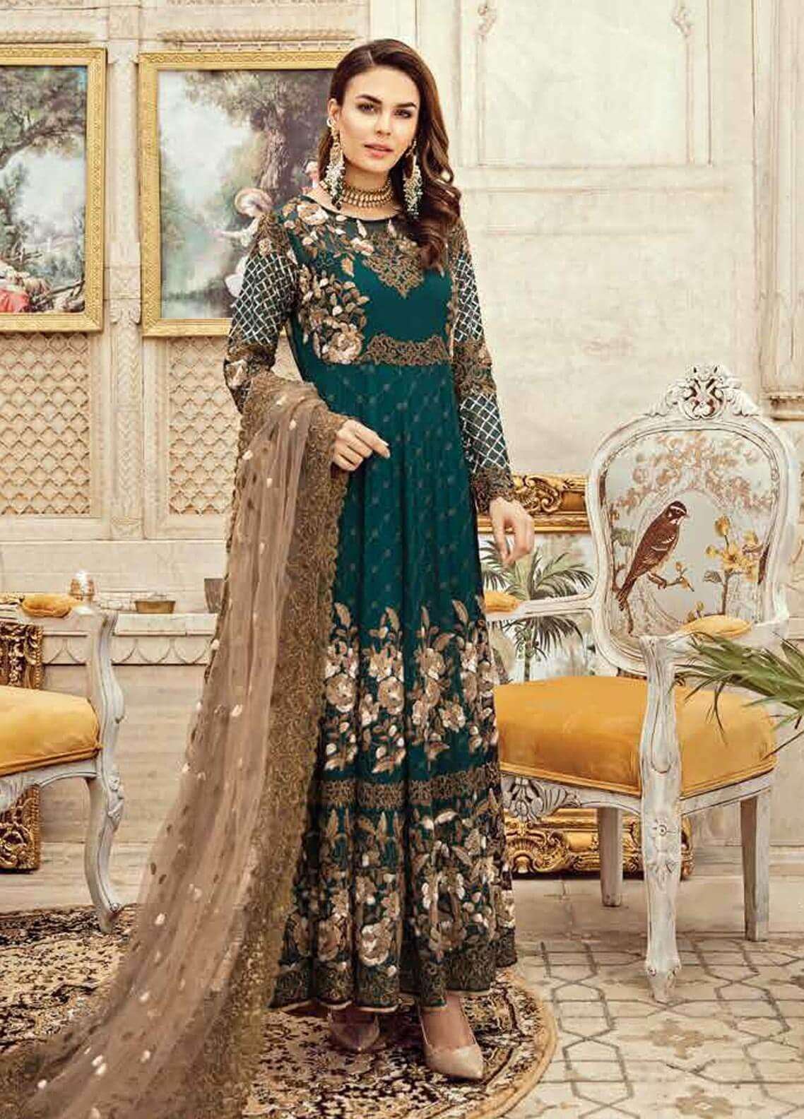 Imrozia by Serene Embroidered Chiffon Unstitched 3 Piece Suit SEI19KM 809 TALOO-E-ZUMURD - Luxury Collection