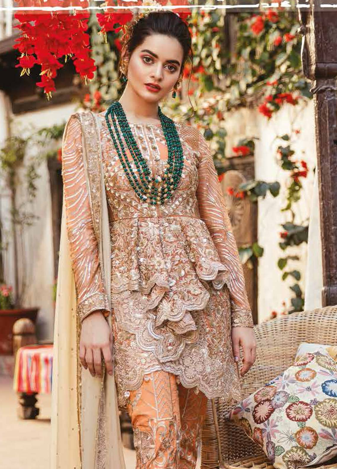 b8a9e1bf09 Imrozia by Serene Embroidered Chiffon Unstitched 3 Piece Suit SEI19E 705  THE SHIMMER TANGERINE - Luxury Collection