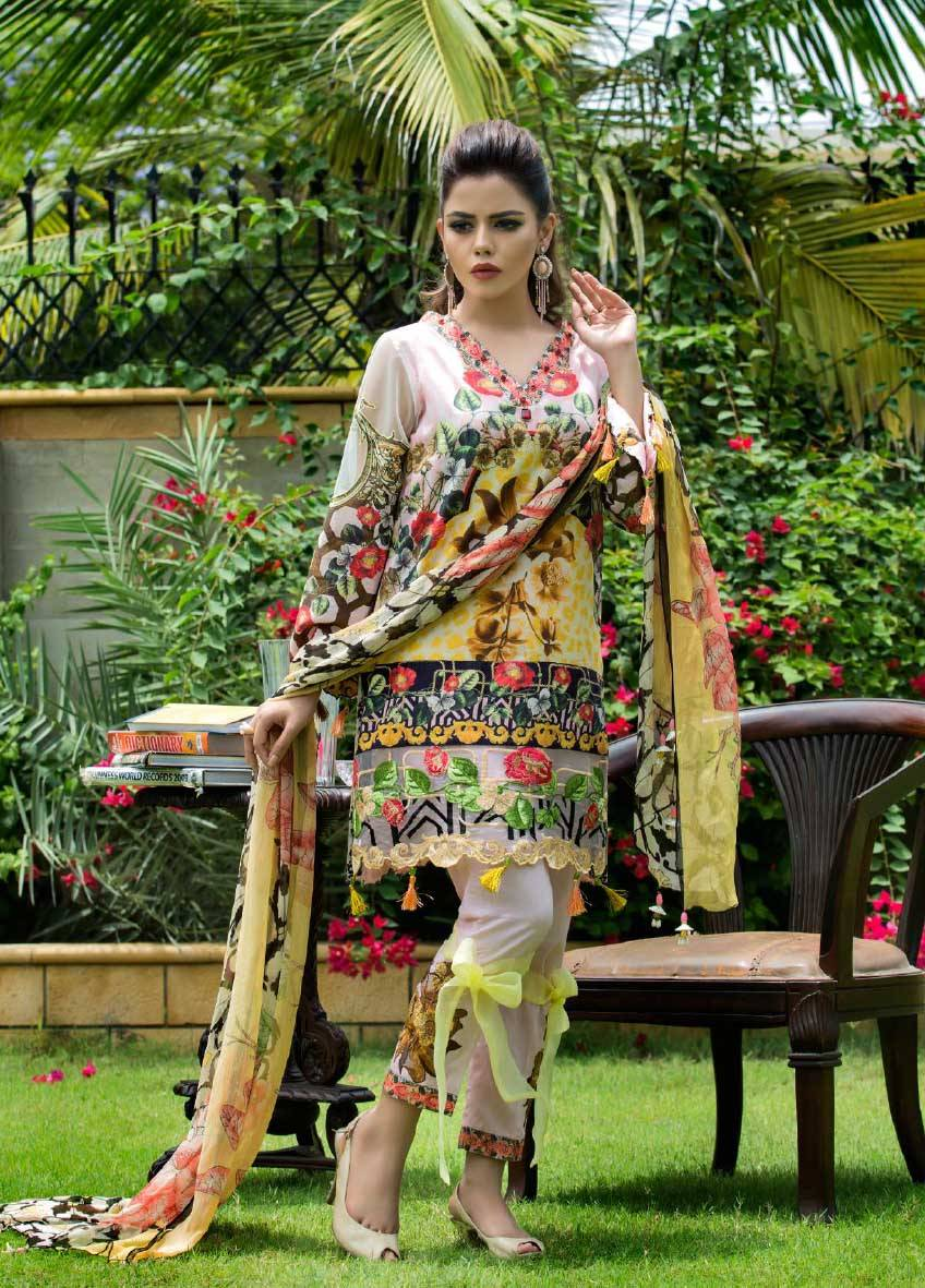 Sifona Embroidered Lawn Unstitched 3 Piece Suit SF17E2 02