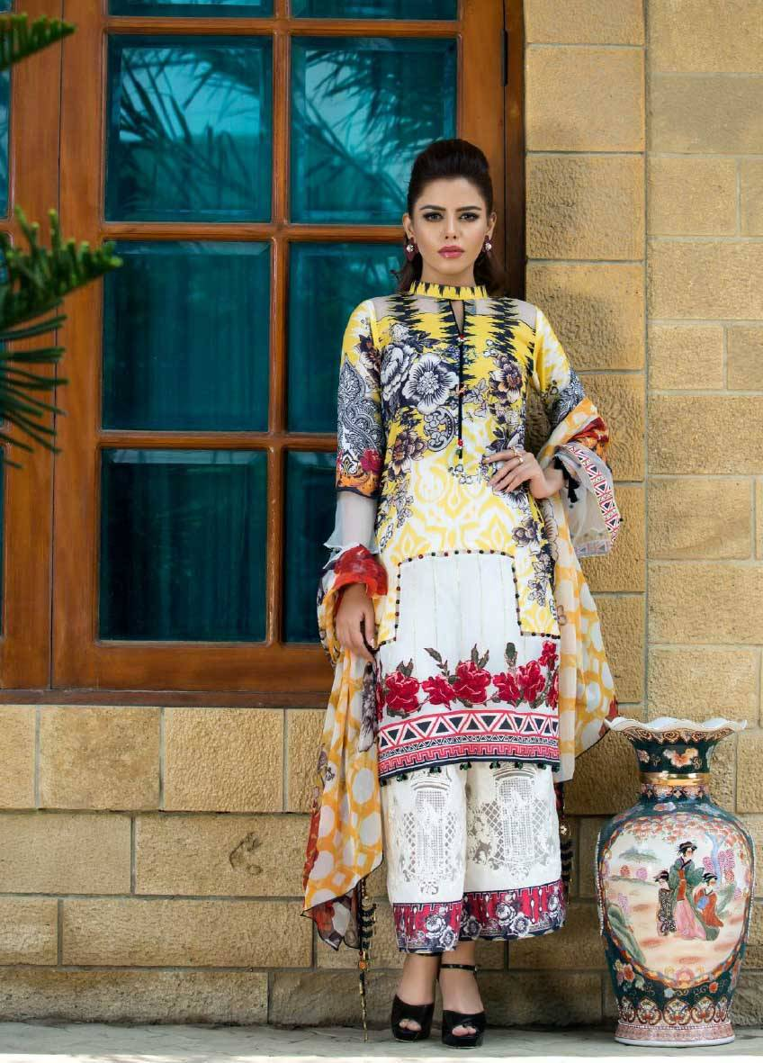 Sifona Embroidered Lawn Unstitched 3 Piece Suit SF17E2 04