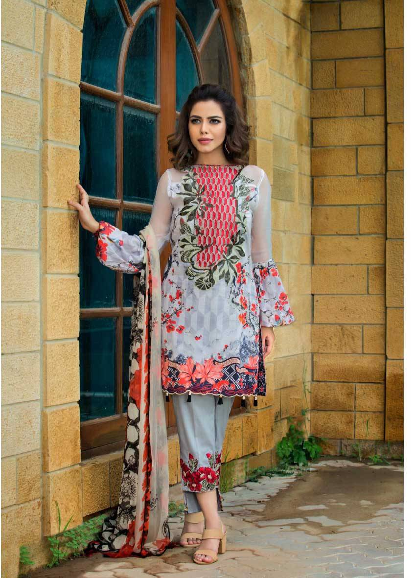 Sifona Embroidered Lawn Unstitched 3 Piece Suit SF17E2 07