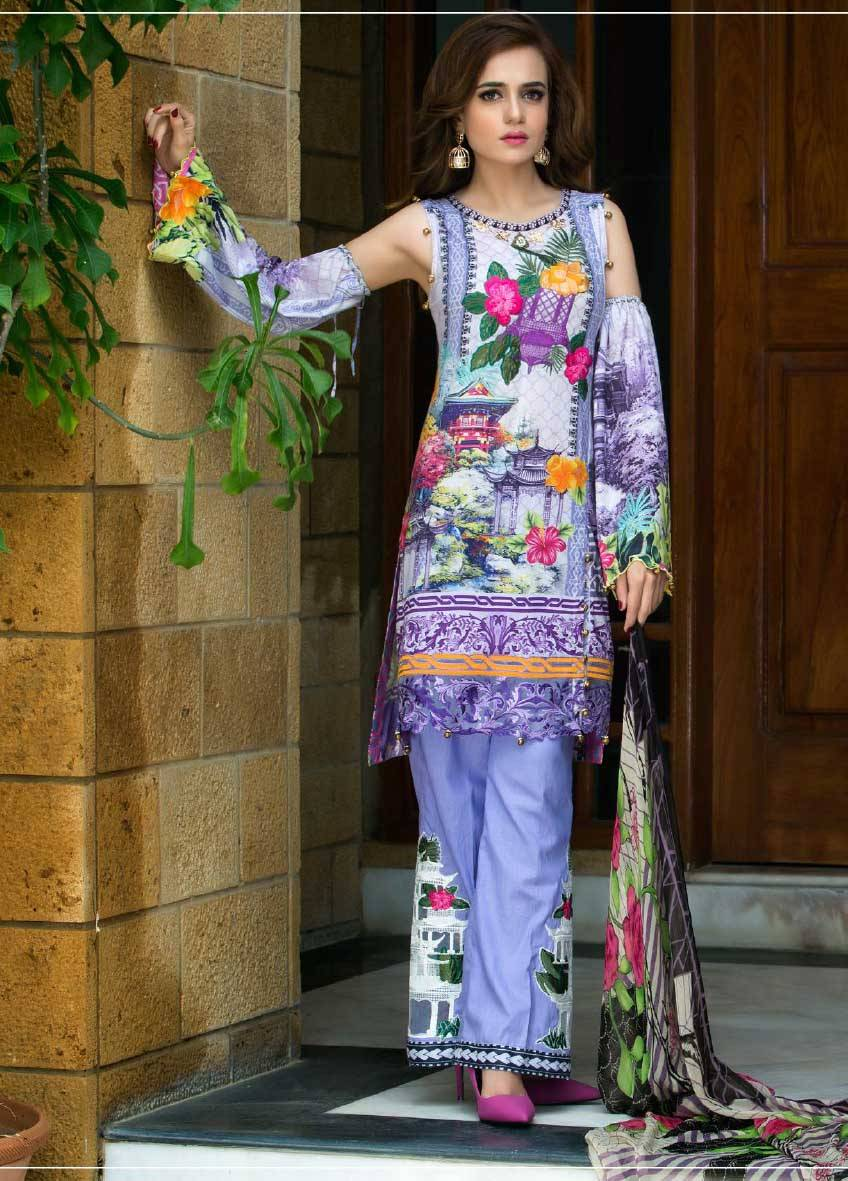 Sifona Embroidered Lawn Unstitched 3 Piece Suit SF17E2 08