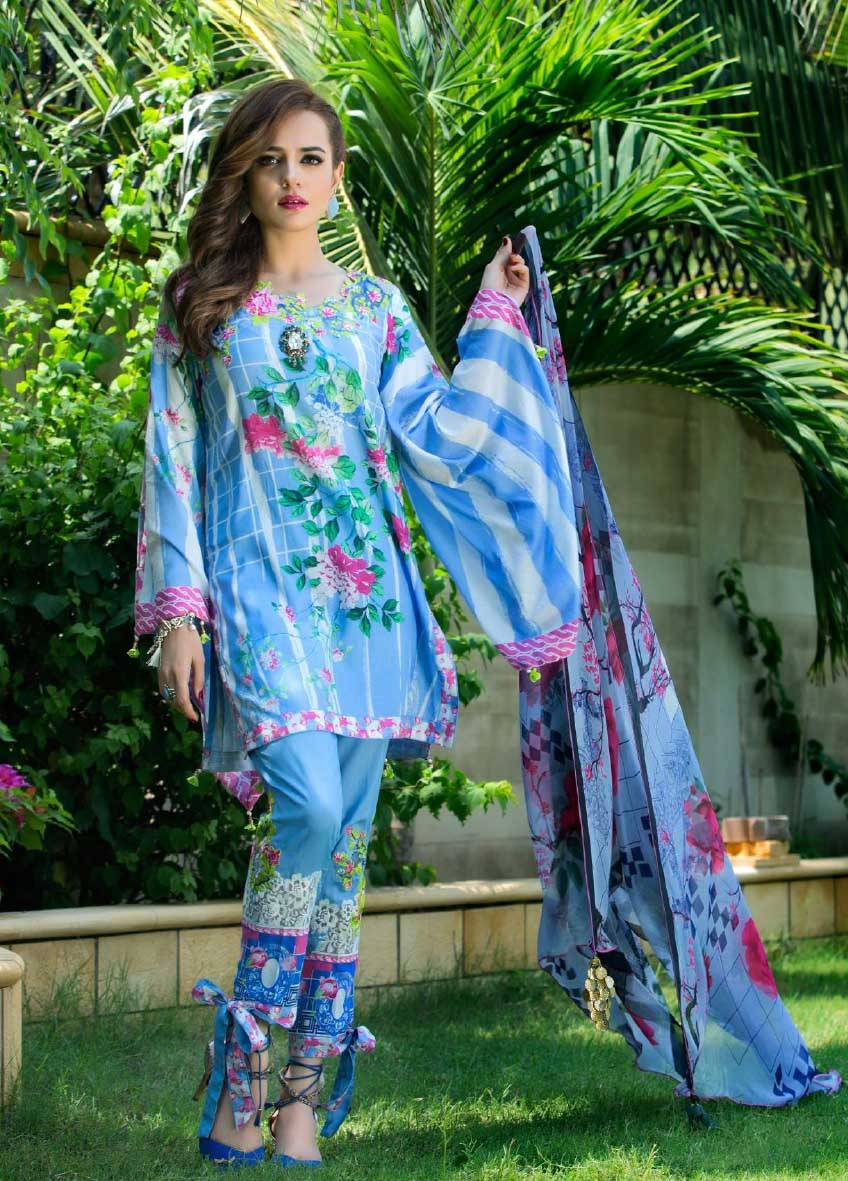 Sifona Embroidered Lawn Unstitched 3 Piece Suit SF17E2 09