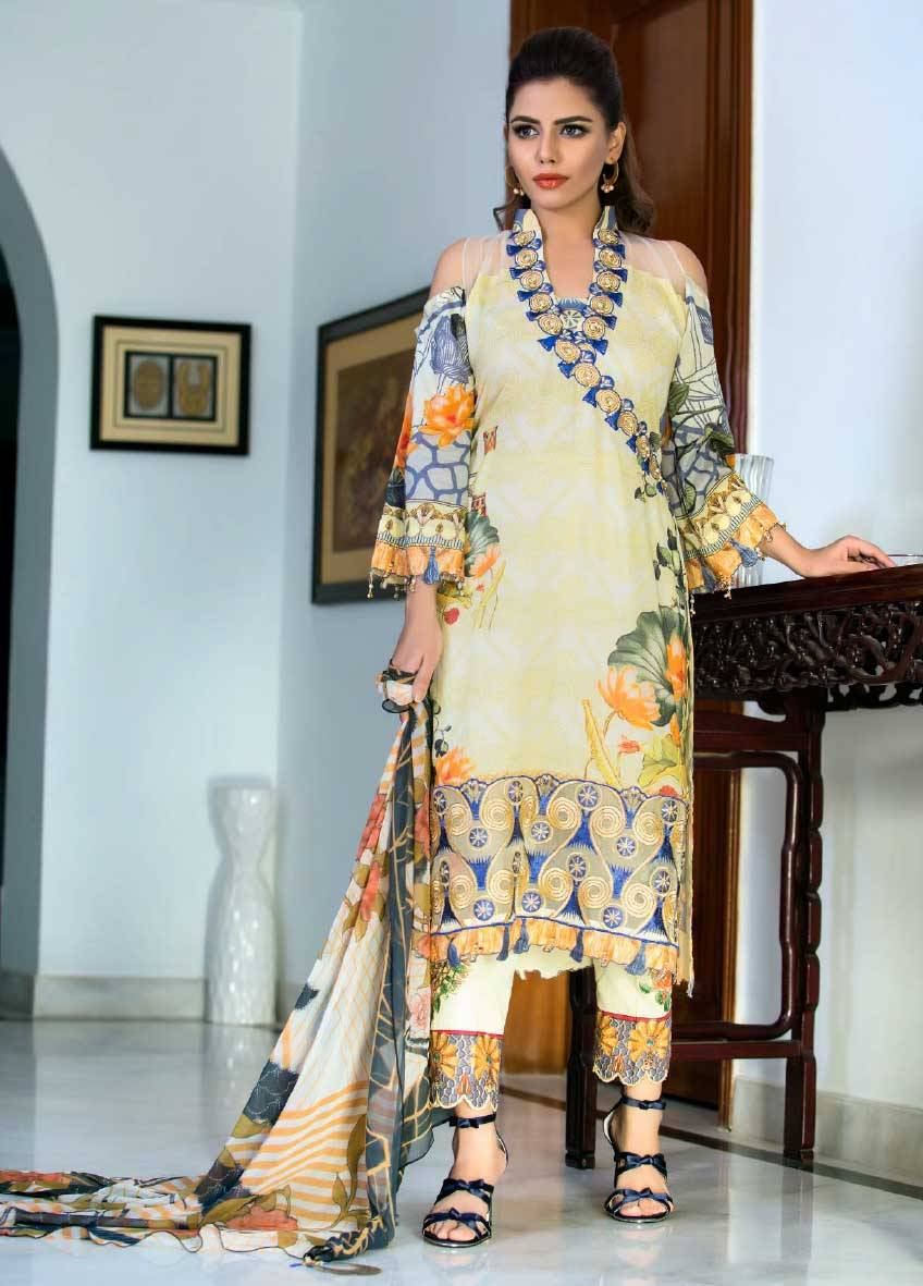 Sifona Embroidered Lawn Unstitched 3 Piece Suit SF17E2 10