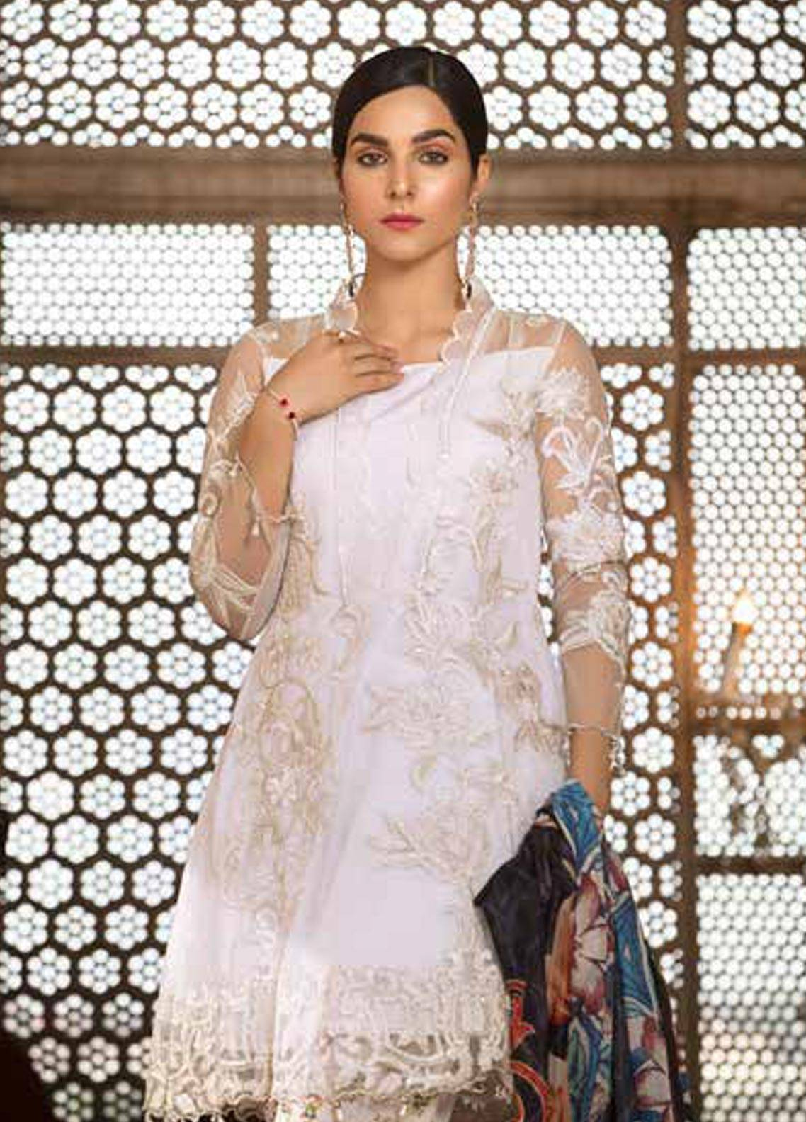 ed8d0117c4 Sifona Embroidered Zari Net Unstitched 3 Piece Suit SFA18-L2 01 - Luxury  Collection