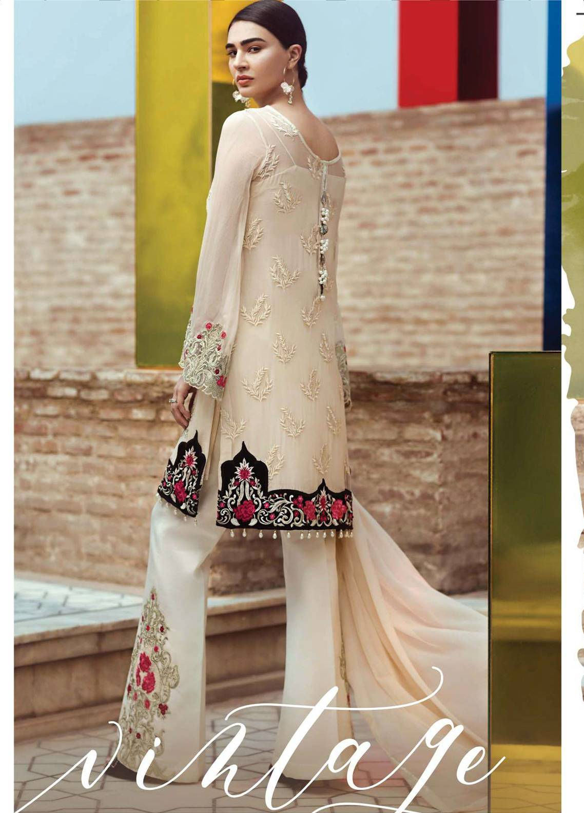 d675c5ab2c Serene Premium Embroidered Pure Chiffon Unstitched 3 Piece Suit SFF18C 07 - Chiffon  Collection