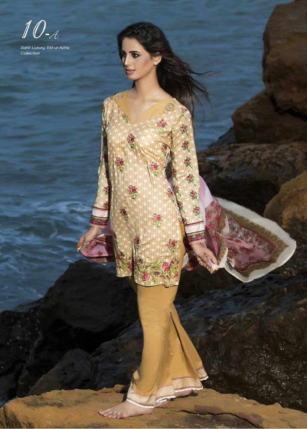 Sahil By ZS Textiles Embroidered Lawn Unstitched 3 Piece Suit SH17E2 10A
