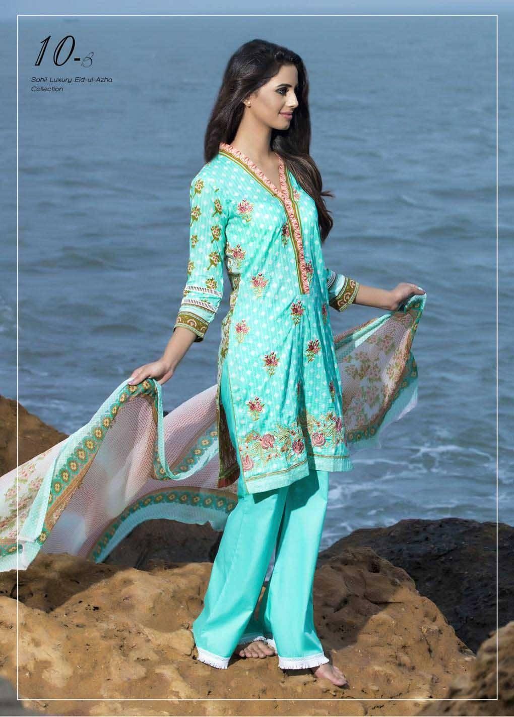 Sahil By ZS Textiles Embroidered Lawn Unstitched 3 Piece Suit SH17E2 10B