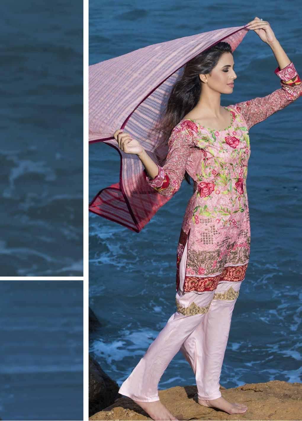 Sahil By ZS Textiles Embroidered Lawn Unstitched 3 Piece Suit SH17E2 11A