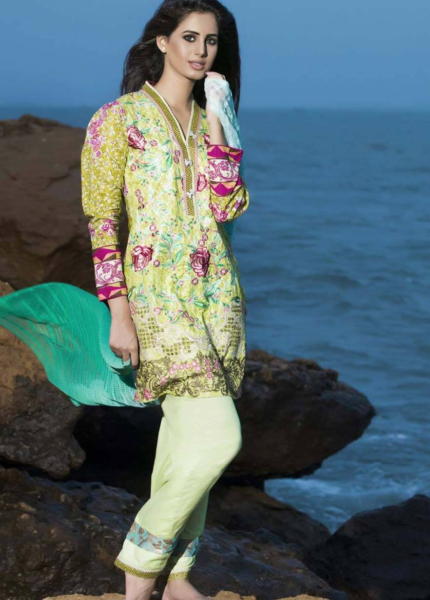 Sahil By ZS Textiles Embroidered Lawn Unstitched 3 Piece Suit SH17E2 11B