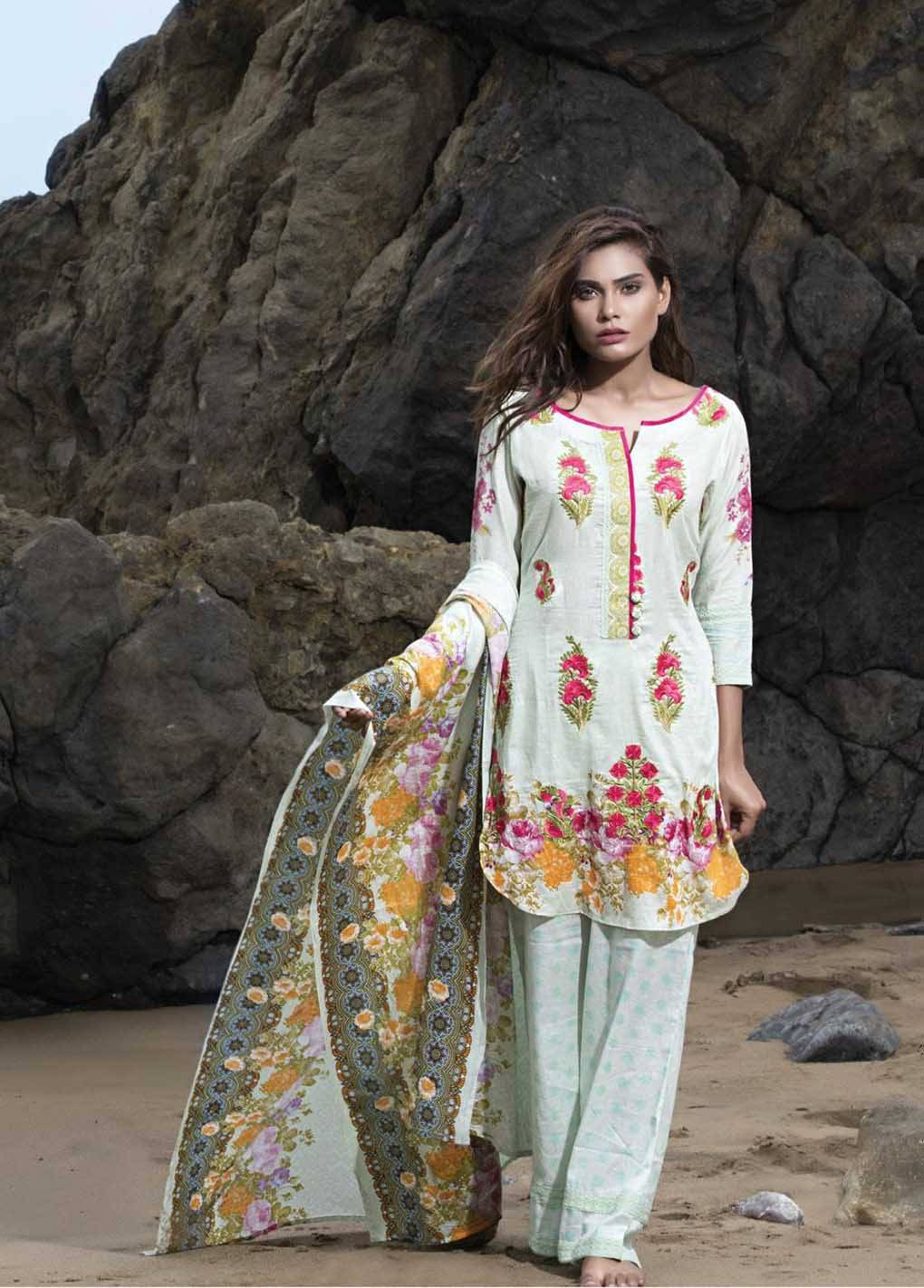 Sahil By ZS Textiles Embroidered Lawn Unstitched 3 Piece Suit SH17E2 1B