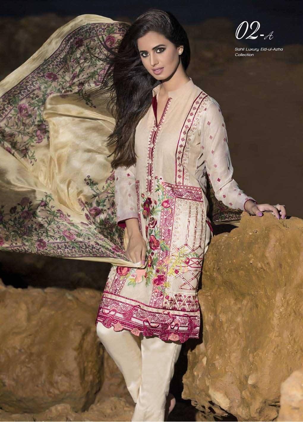 Sahil By ZS Textiles Embroidered Lawn Unstitched 3 Piece Suit SH17E2 2A