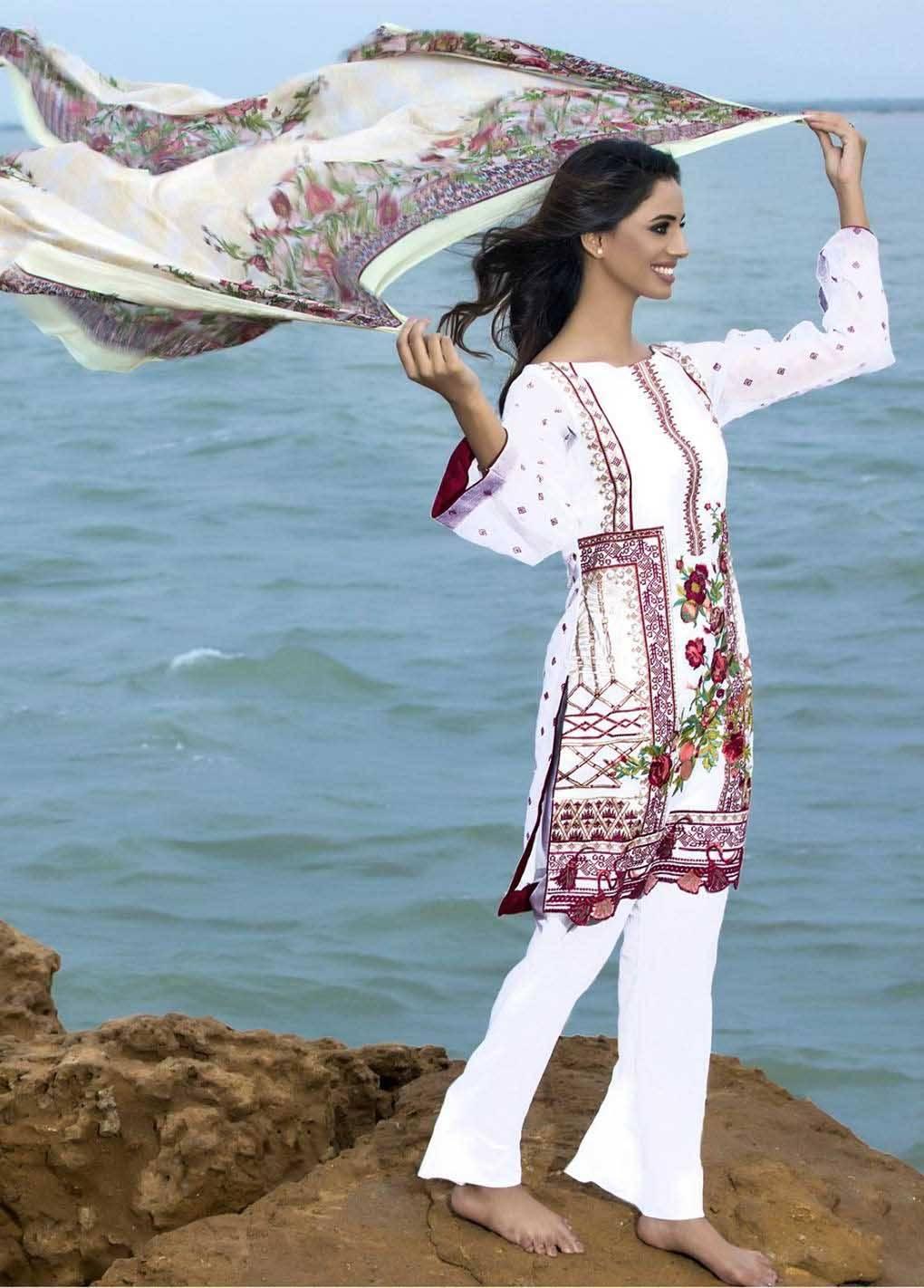 Sahil By ZS Textiles Embroidered Lawn Unstitched 3 Piece Suit SH17E2 2B
