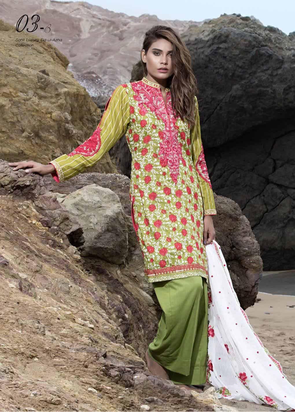 Sahil By ZS Textiles Embroidered Lawn Unstitched 3 Piece Suit SH17E2 3B