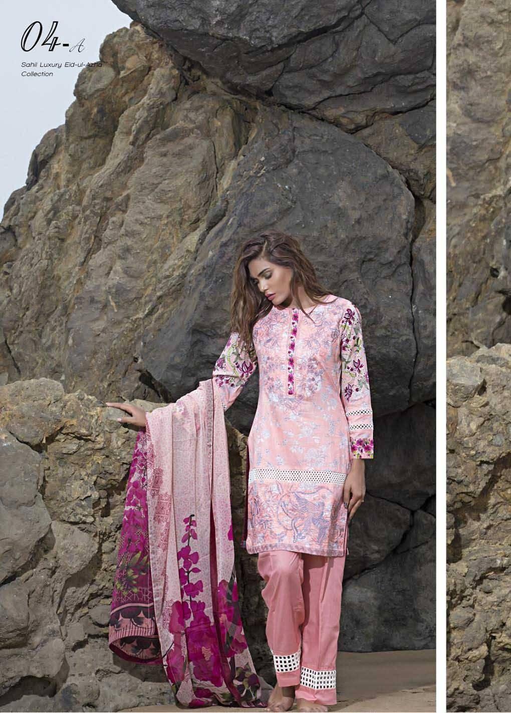 Sahil By ZS Textiles Embroidered Lawn Unstitched 3 Piece Suit SH17E2 4A