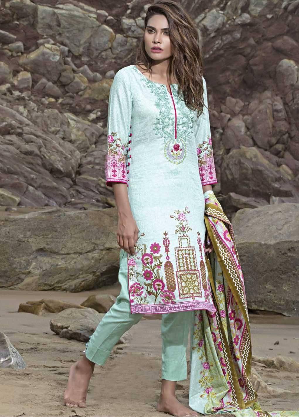 Sahil By ZS Textiles Embroidered Lawn Unstitched 3 Piece Suit SH17E2 6A
