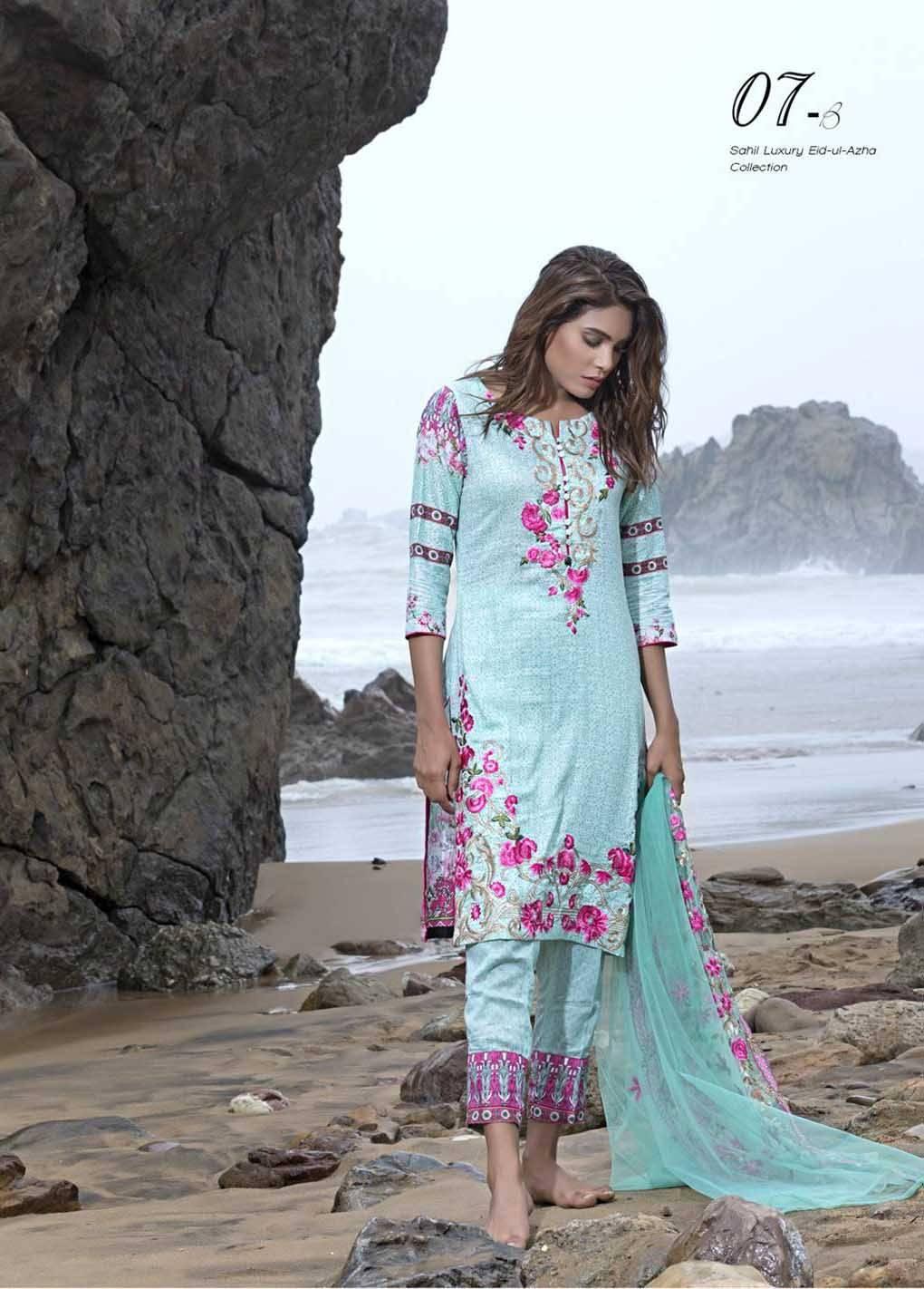 Sahil By ZS Textiles Embroidered Lawn Unstitched 3 Piece Suit SH17E2 7B