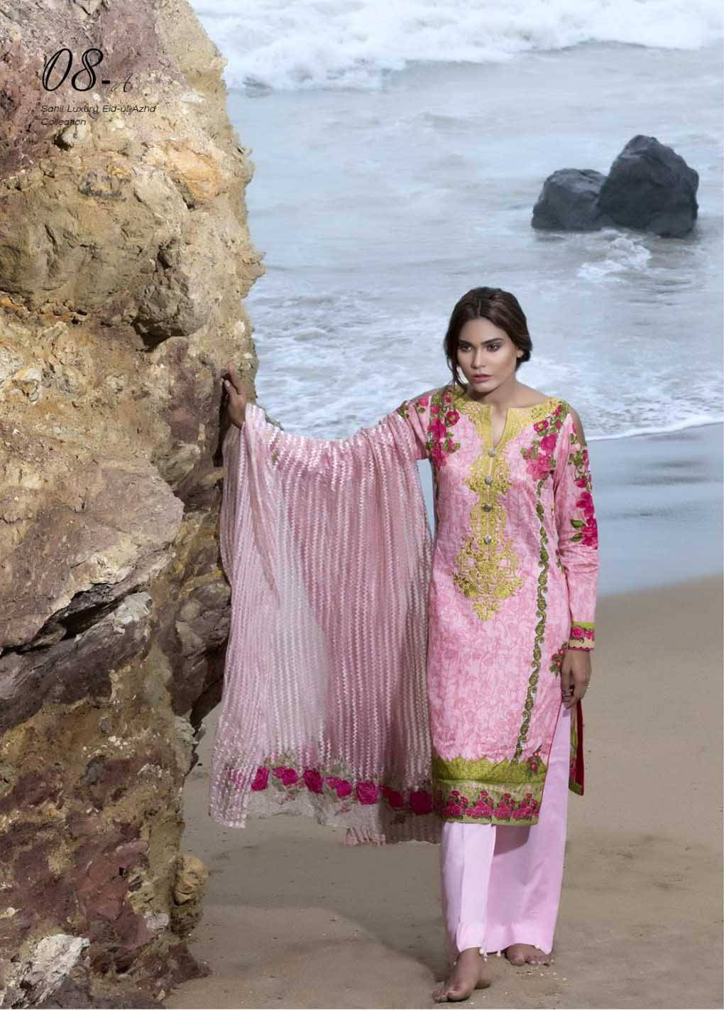 Sahil By ZS Textiles Embroidered Lawn Unstitched 3 Piece Suit SH17E2 8A