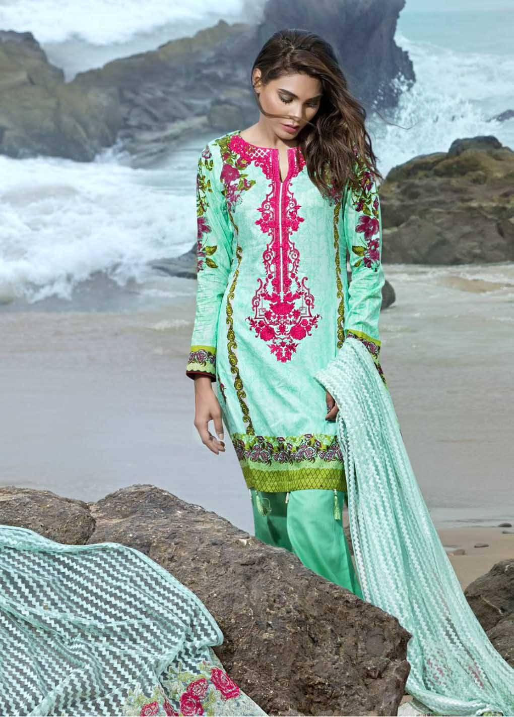Sahil By ZS Textiles Embroidered Lawn Unstitched 3 Piece Suit SH17E2 8B