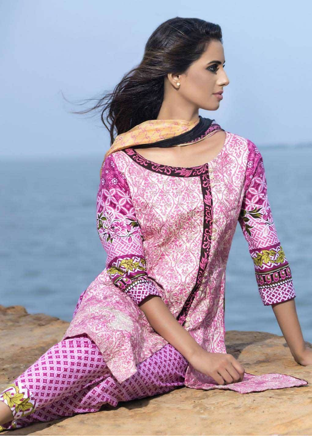 Sahil By ZS Textiles Embroidered Lawn Unstitched 3 Piece Suit SH17E2 9A