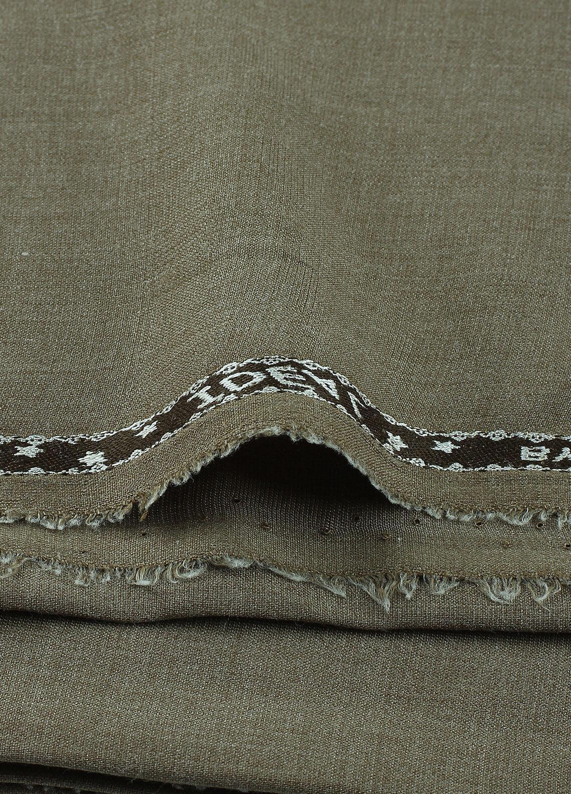 Shabbir Fabrics Plain Wash N Wear Unstitched Fabric SHBF-0030 Green - Summer Collection