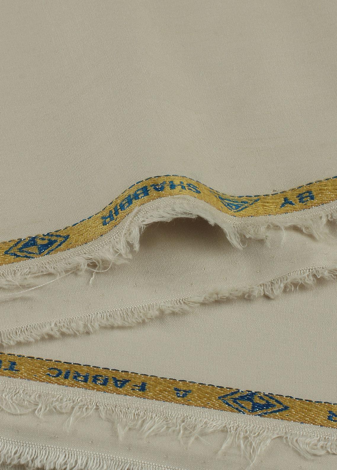Shabbir Fabrics Plain Wash N Wear Unstitched Fabric SHBP-0010 Light Fawn - Summer Collection