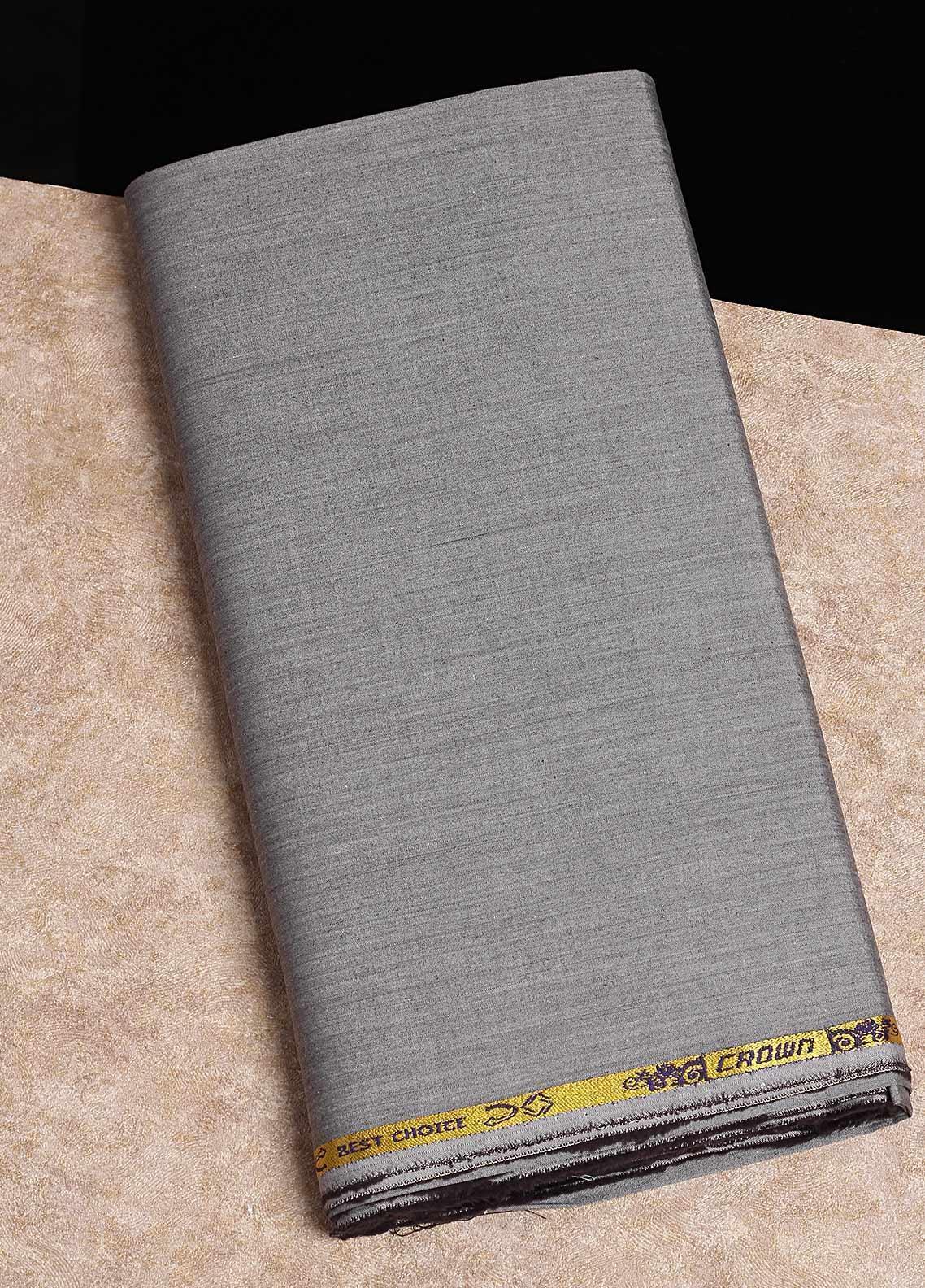 Shabbir Fabrics Plain Chambray Unstitched Fabric SHB-0055 DARK GREY - Summer Collection
