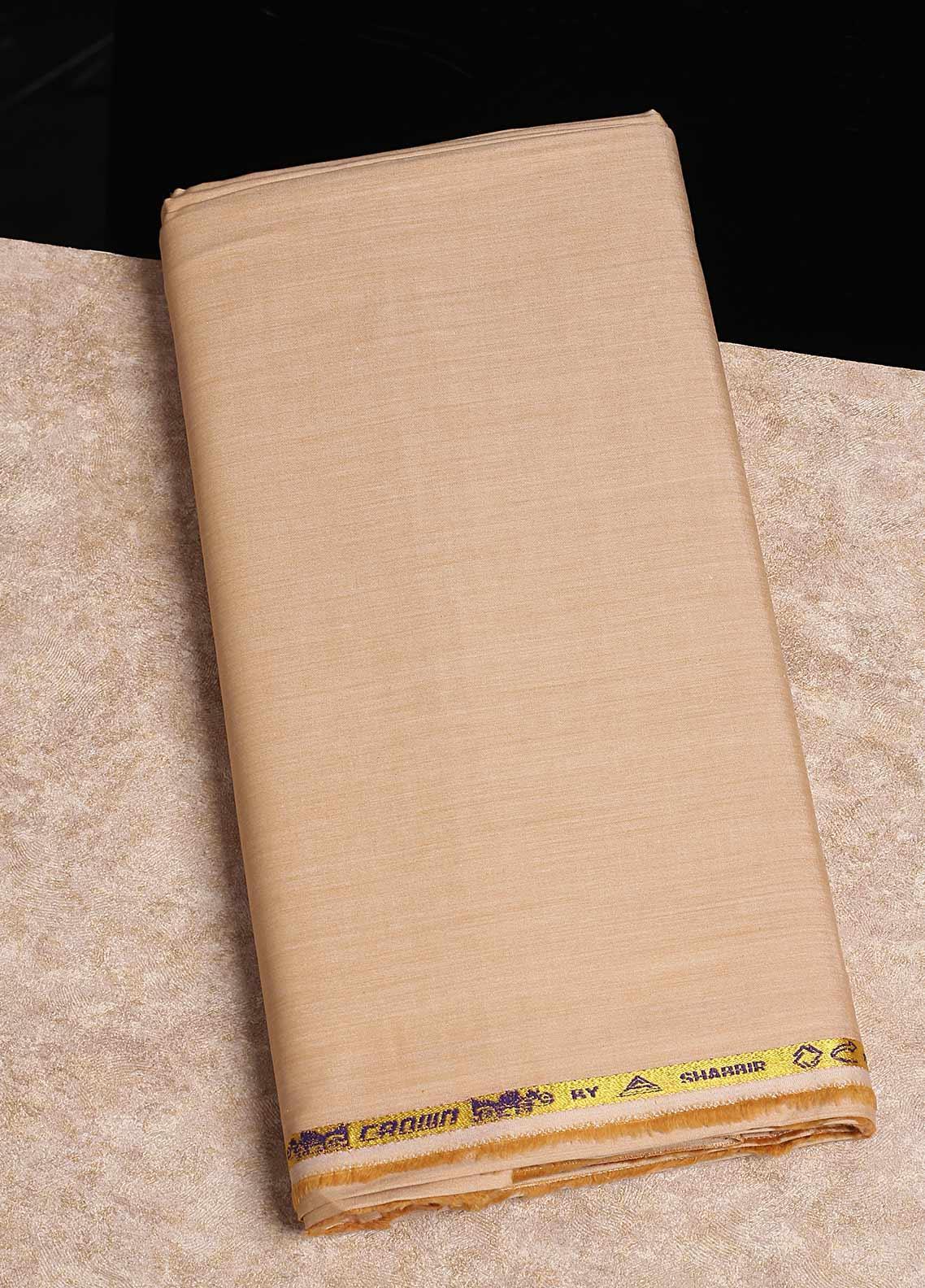 Shabbir Fabrics Plain Chambray Unstitched Fabric SHB-0055 DARK YELLOW - Summer Collection