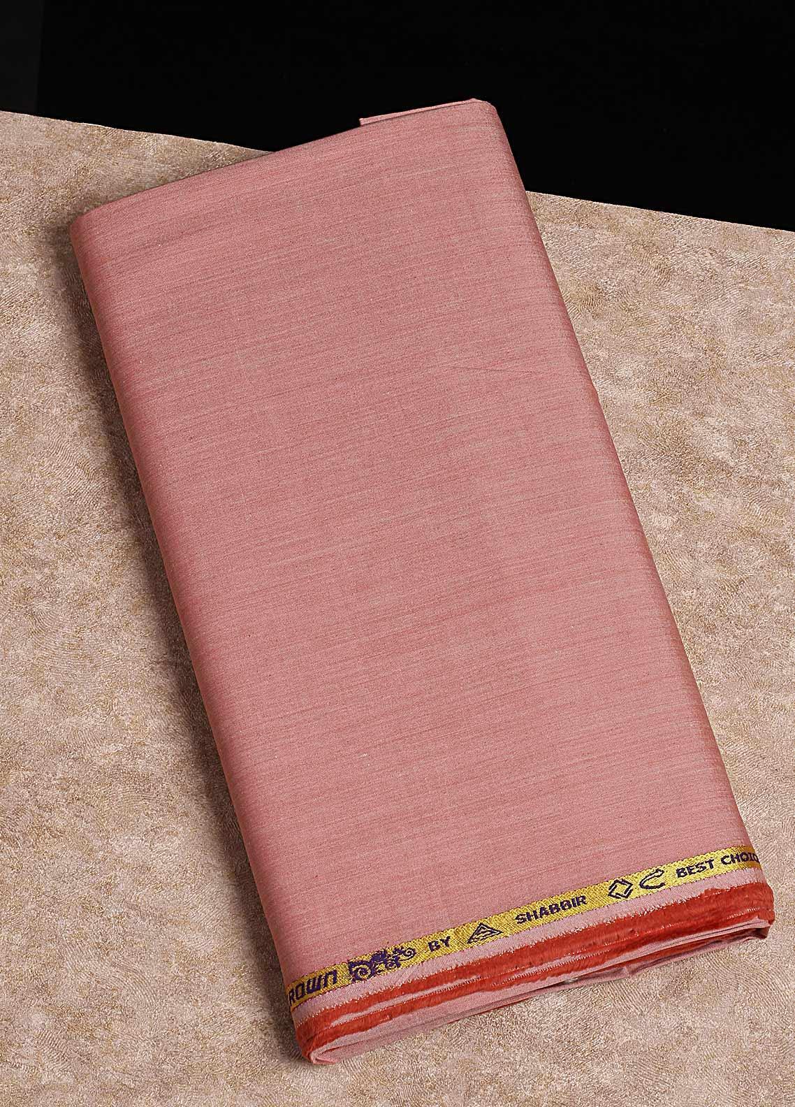 Shabbir Fabrics Plain Chambray Unstitched Fabric SHB-0055 ORANGE - Summer Collection