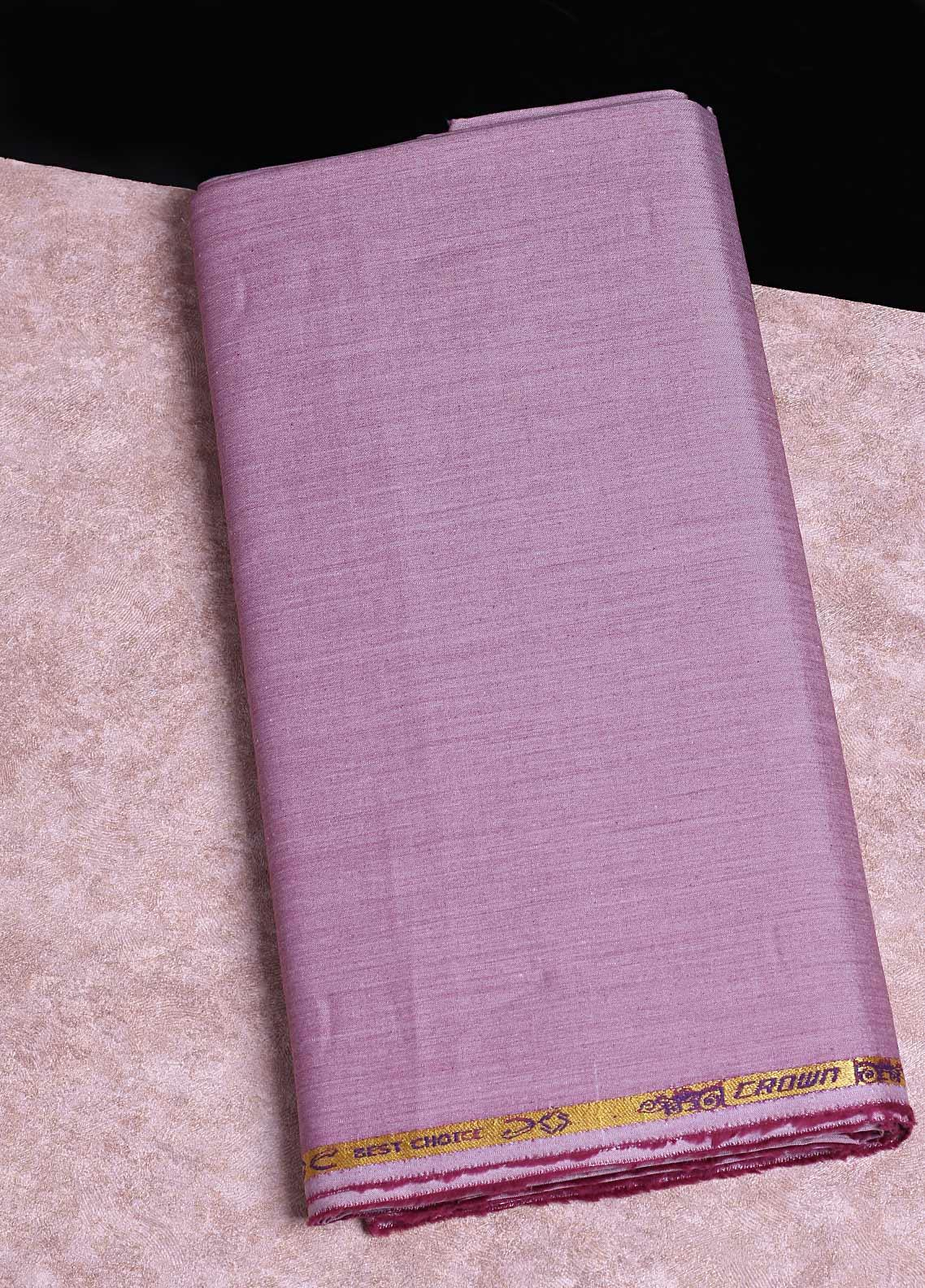 Shabbir Fabrics Plain Chambray Unstitched Fabric SHB-0055 PURPLE - Summer Collection