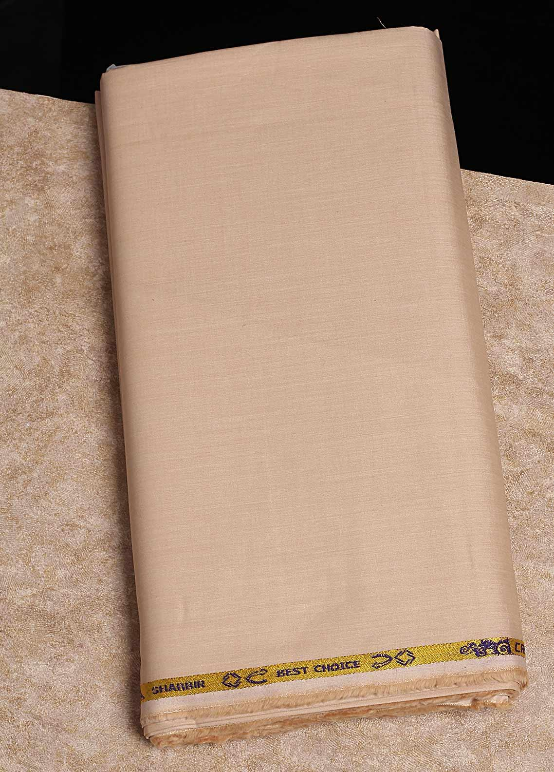 Shabbir Fabrics Plain Chambray Unstitched Fabric SHB-0055 YELLOW - Summer Collection