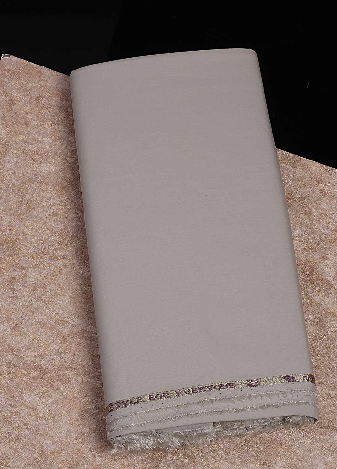 Shabbir Fabrics Plain Wash N Wear Unstitched Fabric SHBF-0049 Grey - Summer Collection