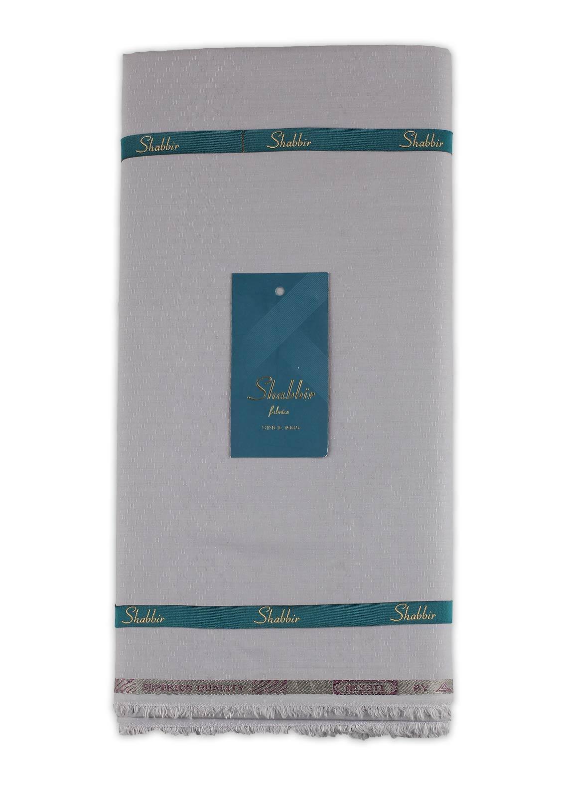Shabbir Fabric Plain Wash N Wear Unstitched Fabric SHBF-0015 GREY - Summer Collection