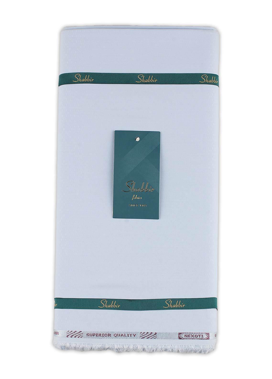 Shabbir Fabric Plain Wash N Wear Unstitched Fabric SHBF-0015 SKY BLUE - Summer Collection